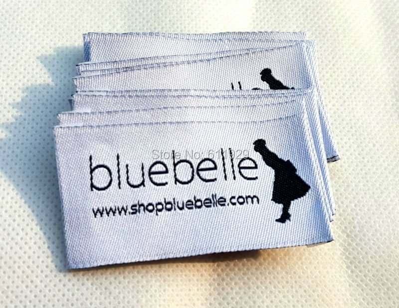 Free shipping customized t shirt clothing woven label Woven t shirt tags