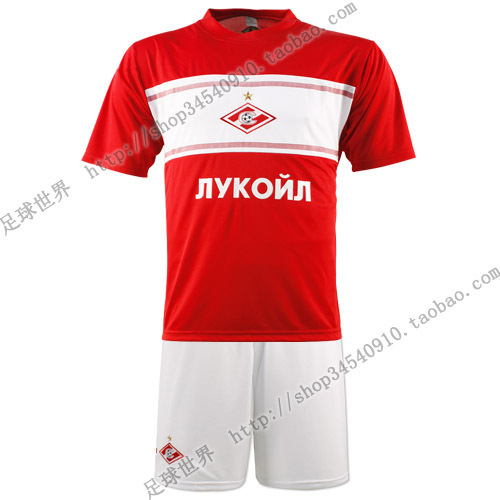(Free shipping)2012 - 13 Spartak Moscow home court soccer jersey top red sportswear training service