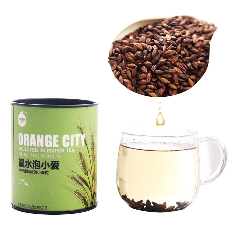 Free shipping 108g canned Barley tea Orange City Store herbal tea lady tea oriental coffee good