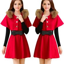 office dress work midi dress wool black vestidos de inverno kawaii winter woman clothes korean roupas femininos ropa mujer R322