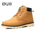 Men Boots Black Ankle Leather Boots Men s Botas Australia Snow Army Warm Winter Boot Casual