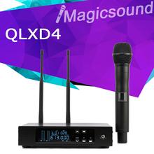 606-630 МГц/740-765 МГц!! QLXD24 QLXD2 QLX-D24 Диверситивные UHF Профессиональная Беспроводная Микрофонная Система с Алюминиевой коробке(China (Mainland))