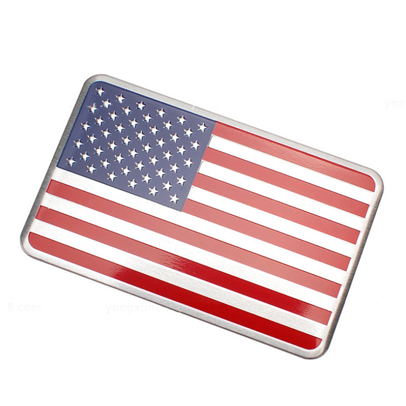 1pcs Car Styling The United States American Flag Car stickers For Cadillac Buick Chevrolet Lincoln Chrysler Jeep Dodge Focus(China (Mainland))