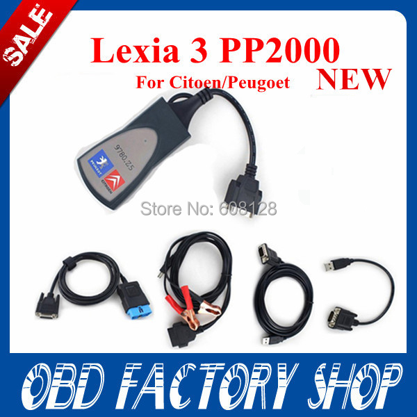 Promotion 2015 New Lexia 3 diagbox v7.57 PP2000 for Citroen Peugeot Professional Diagnostic Tool Lexia3 pp2000 with LED light(China (Mainland))
