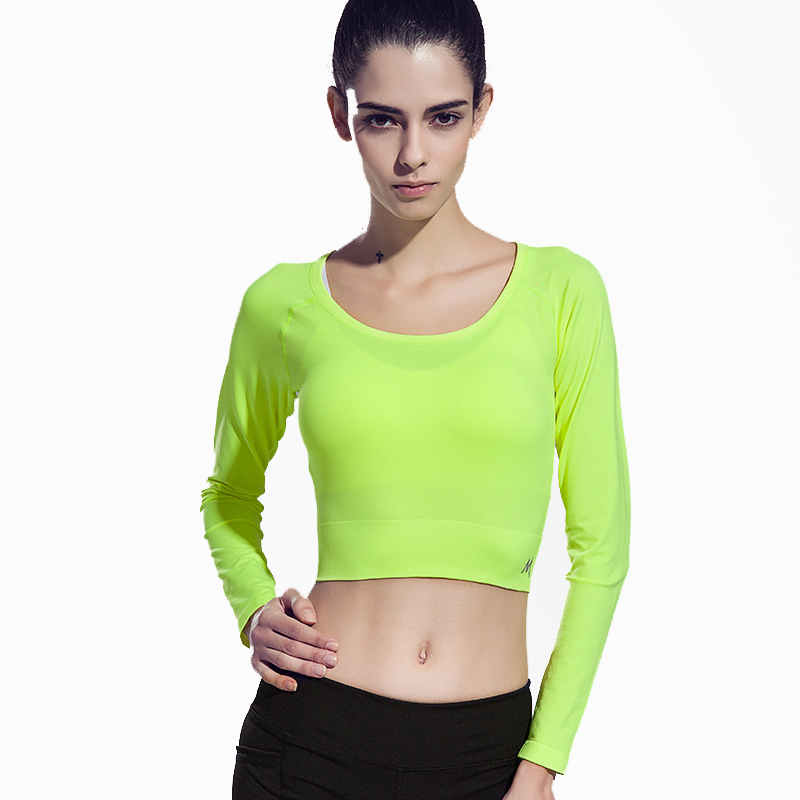 Yoga Pilates t shirts top vest sport short style women Gym fitness quick dry cycling tennis running long sleeve tees jogging(China (Mainland))