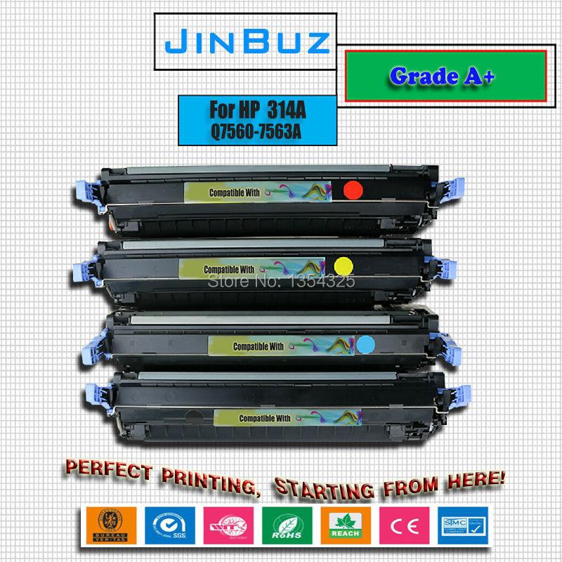4PC Lot Compatible 314A toner For HP Color LaserJet 2700 2700n 2700dn 2700dtn toner Cartridge Grade