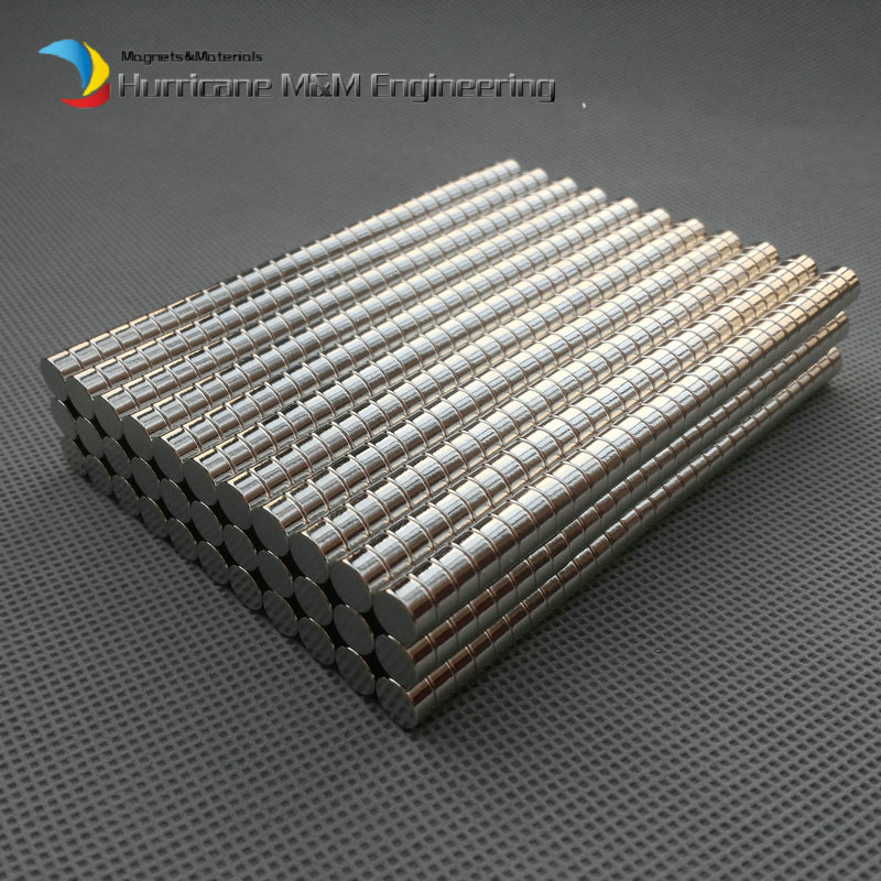 2000 PCS NdFeB Disc Magnet 1/4 dia. x 1/8 thick 6.35 x 3.175MM Neodymium Magnets Grade N42 NiCuNi Plated Axially Magnetized<br><br>Aliexpress