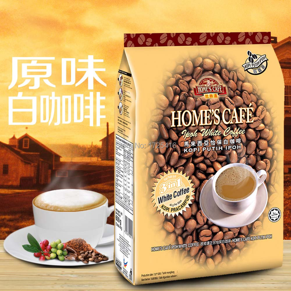 Ipoh Malaysia imported coffee hometown concentrated flavor instant coffee 3 in 1 White Coffee Free shipping