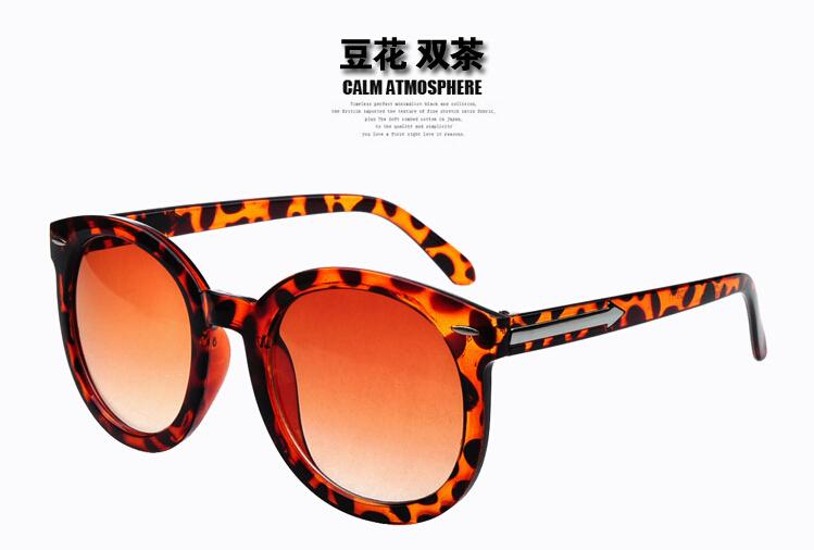 Summer Style Korean Bright shining round frame sun glasses ...