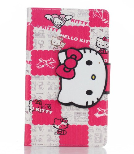 "Newest for Samsung Galaxy Tab S 8.4"" tablet T700 T705C cartoon hello kitty protective case stand soft cover for T700(China (Mainland))"