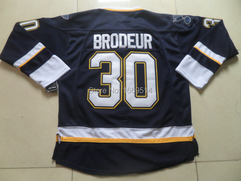 Wholesale St. Loui s Blues Martin Brodeur #30 Home Jersey - Navy Blue stitched embroidery winter classic ice hockey jersey(China (Mainland))