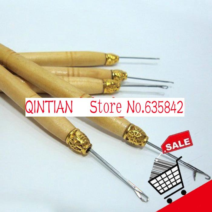 Wooden Handle Simple Pulling Needle, Micro Ring Needle, Hair Extension Tools, 60 Items Per Lot! FREE SHIPPING!<br><br>Aliexpress