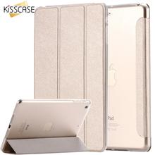 KISSCASE For ipad mini ipad5 6 Air 2 Flip Transparent Clear Silk Leather Case For ipad Air air2 Mini 1 2 3 4 Stand Full Cover(China (Mainland))