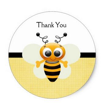 3.8cm Bumble Bees Custom Baby Shower Stickers(China (Mainland))
