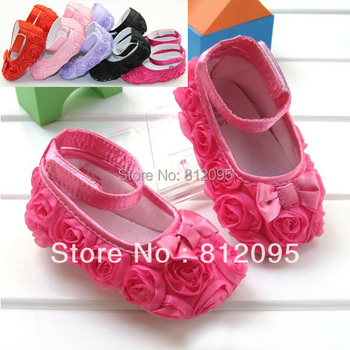 LittleSpring Retail In Stock! Baby Girls Shoes Toddler prewalker shoes infant baby girl flower soft sole shoes