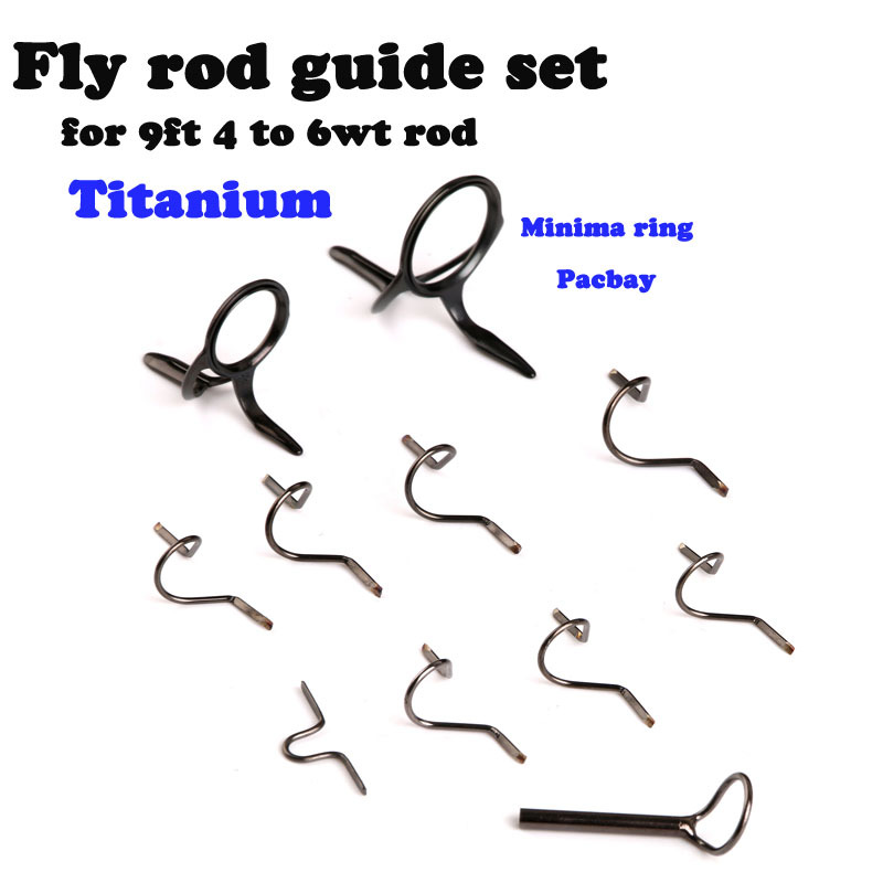 Maxcatch fly fishing rod guide tip repair kit set diy eye for Fishing rod guides replacement