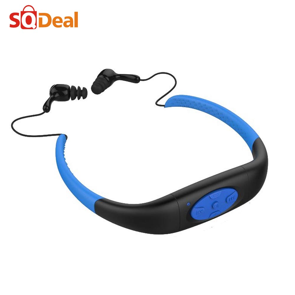 8GB Water Resistance MP3 Waterproof for Swimming IPX8 Player Underwater Sports Neckband Diving with FM Stereo Audio Headphone(China (Mainland))