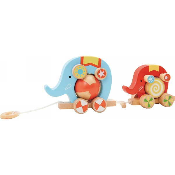 Wooden pull toy, Elephant pull toy(China (Mainland))