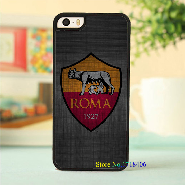 AS Roma Logo fashion original cell phone case cover for iphone 4 4s 5 5s 5c 6 6 plus #6632an(China (Mainland))