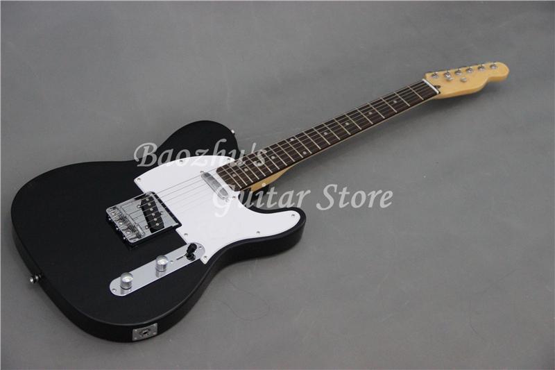 F Electric Guitar, Custom Black color top White pickguard guitar, High quality(China (Mainland))