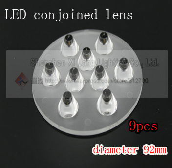 Free shipping 8pcs/lot wholesale&retail 9w 9stars led spotlight conjoined lens High quality electron component(China (Mainland))