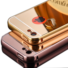 For iPhone 5C New Mirror Aluminum Case Luxury Metal Frame Ultra Slim Acrylic Back Cover For iPhone 5 C(China (Mainland))