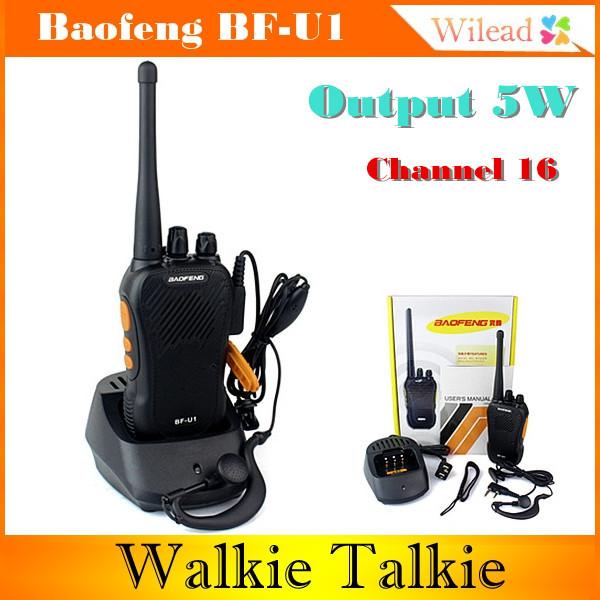 Pofung Walkie Talkie Baofeng bf/u1 UHF 400/480 16 talky 5W VOX Baofeng BF-U1 2pcs baofeng bf a5 5w 16ch walkie talkie uhf 400 470mhz fm ham two way radio