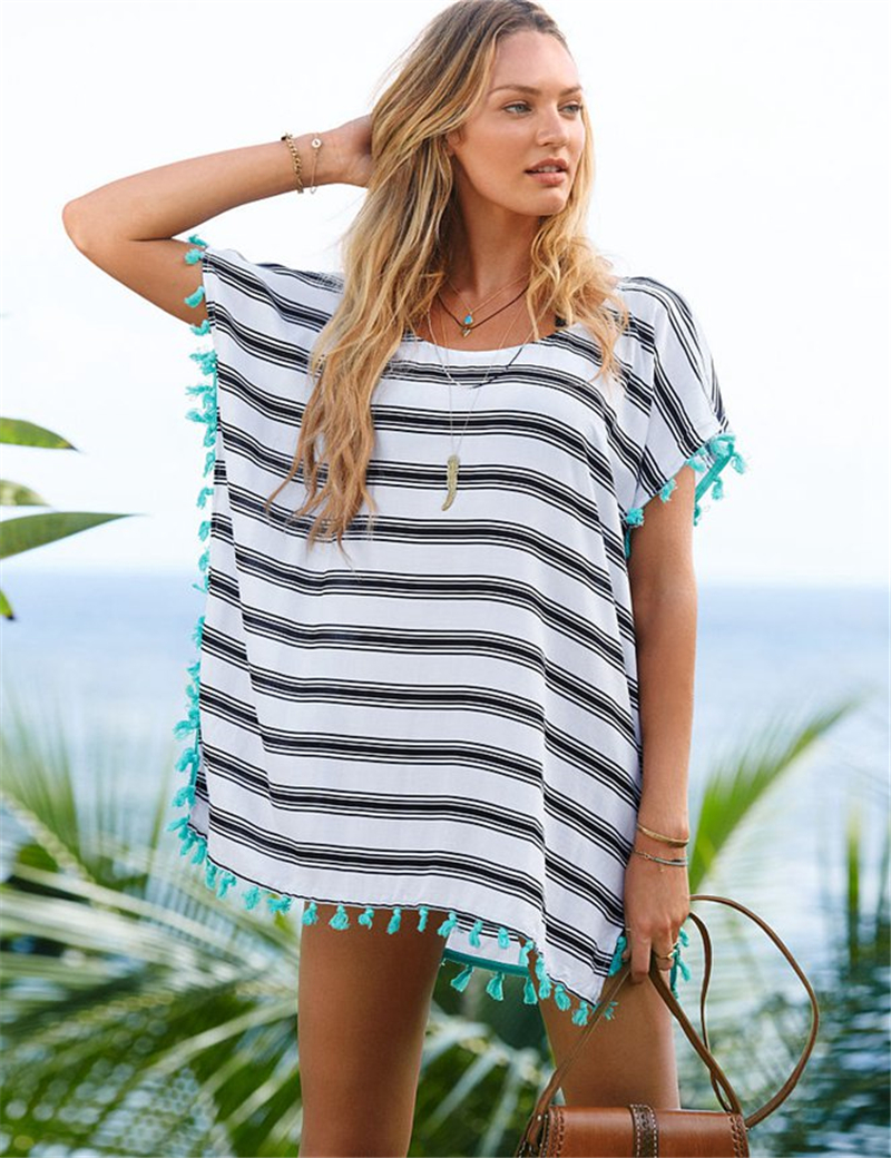 B260 Summer style hot sale white Ladies blouses with Black Striped brand new design Cute Half sleeve Batwing Blouse women(China (Mainland))
