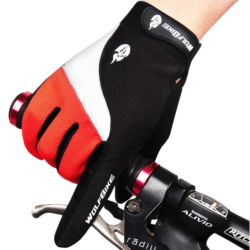 Warm Winter Thicken Bike cycling Glove Thermal Fleece Windproof non-slip Full Finger Cycling Gloves bicycle riding gloves B006(China (Mainland))