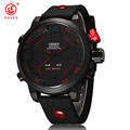 OHSEN Men s Sports Watch with gift box Military Brand Waterproof led Digital Quartz Silicone Watches