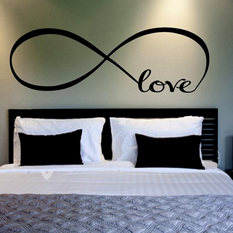 2015 New Large Infinity Symbol Love Bedroom Wall Stickers