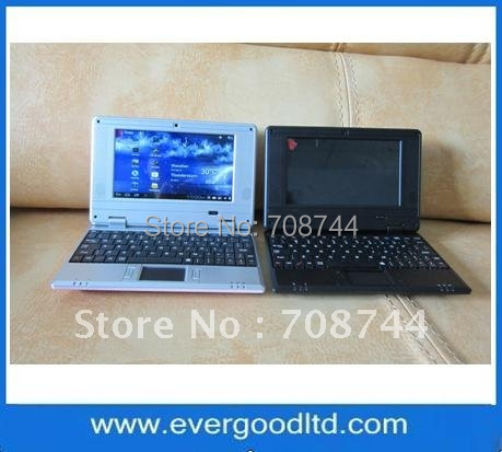 Hot selling 7inch Netbook VIA8850 512MB+4GB Android 4.0 Support Wifi 1.3MP Camera Mini Laptop Computer(China (Mainland))