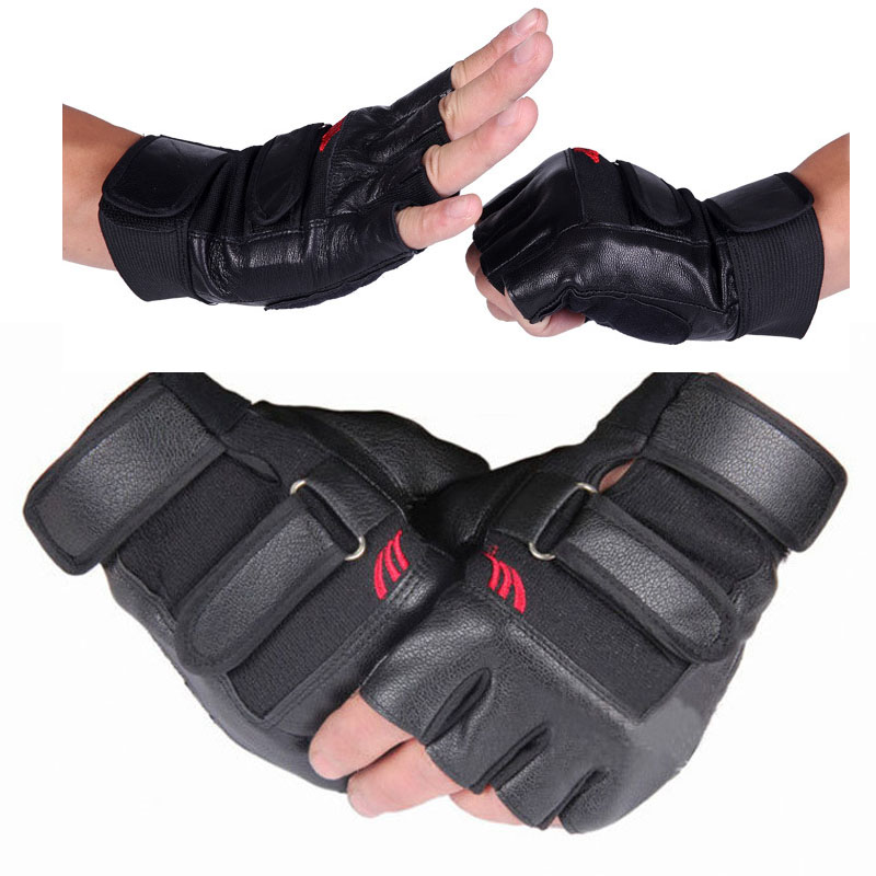 Weight Lifting Gloves With Wrap Around Wrist: Men Weight Lifting Gym Gloves Training Fitness Workout