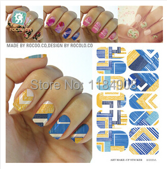 Water Transfer Nail Art Stickers Decal Waterproof Design Plaids Nail Wrap French Manicure Foils Stamp Tools(China (Mainland))