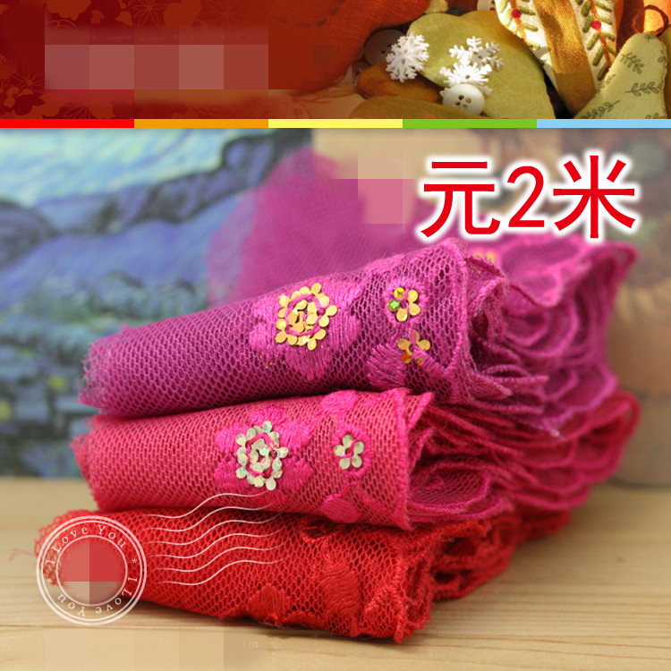 4-5cm Bright Colors Embroidered Laces Garment Lace Trims Woman Apparel Sewing & Fabric Z0002(China (Mainland))