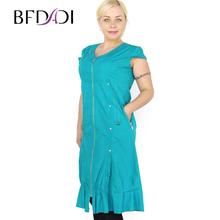BFDADI 2016 новое летом стиль женское платье свободного покроя со v-образным вырезом рукавов линия ну вечеринку вечер элегантное платье Большой размер 4xl-5xl 6812(China (Mainland))