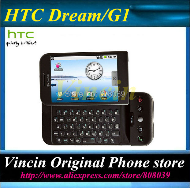 100% original unlocked HTC Dream Android mobile phone G1 WIFI GPS 3.15MP Refurbished(China (Mainland))