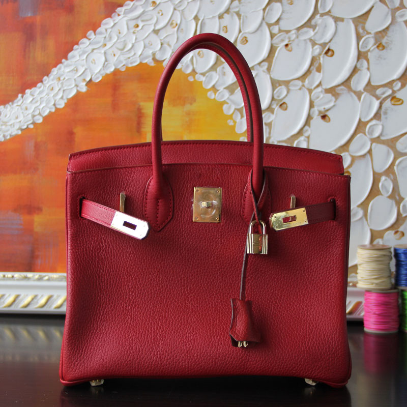 100% Hand Stitching Sew-on tc cc54 leather red platinum genuine leather women bag<br><br>Aliexpress