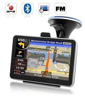 5 inch Car GPS Navigator with Bluetooth&AV IN  internal 4GB load 3D Map