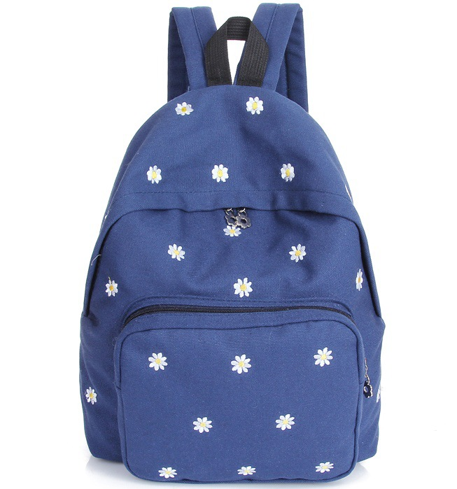 2015 Fashion Flowers Printing Women Canvas Backpack School Student Bags Bolsa Traveling Bag Wholesale<br><br>Aliexpress