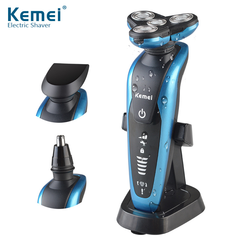 KM-58892 Kemei 3 in1 Washable Rechargeable Electric Nose Trimmer,Shaver Triple Blade Shaving Razors Men Face Care 3D Floating(China (Mainland))