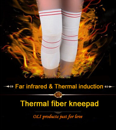 Far infrared & thermal induction fiber knee pads high elastic formfitting fit for sports/health care free shipping #knee1630(China (Mainland))