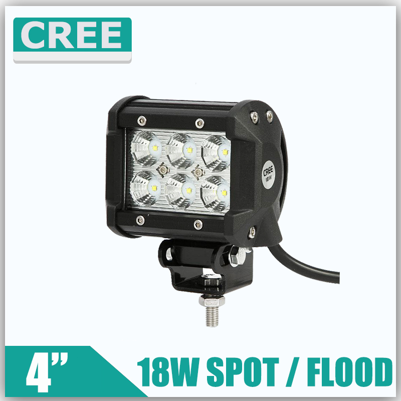 18W 4inch Reflective Cup 3D Cree LED Work Light for Motorcycle OffRoad Driving Lamp Spot/Flood 12/24v ATV SUV Car 4x4 Boat Truck(China (Mainland))