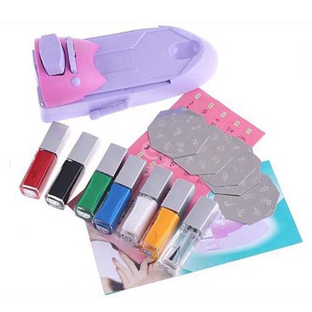 7 Colors DIY Nail Art Printer Pattern Nail Polish Printing Machine Nail Art Stamping Machine , Free Shipping