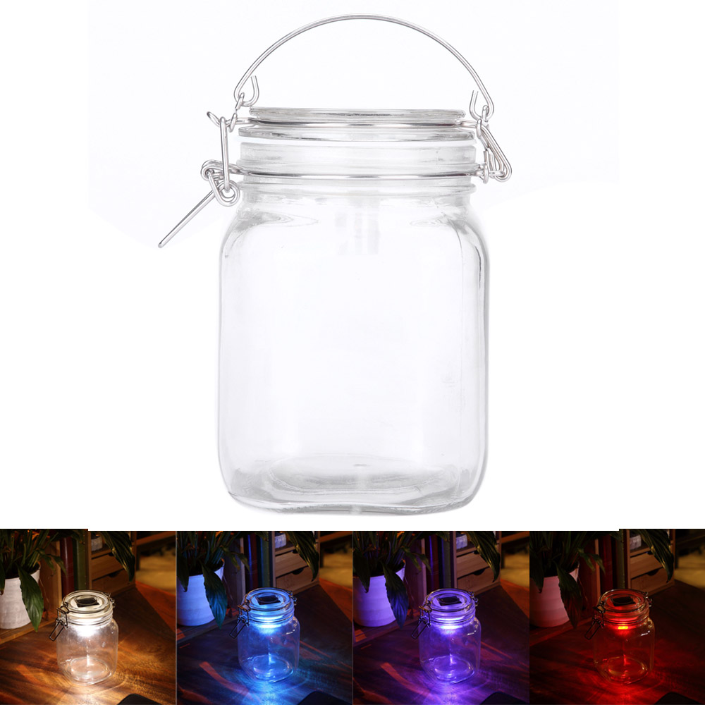 Art Creative Novelty Jar Night Light Solar energy Lamp Decoration Lantern/Table/Party/Outdoor/Indoor Waterproof Led Solar Lights(China (Mainland))