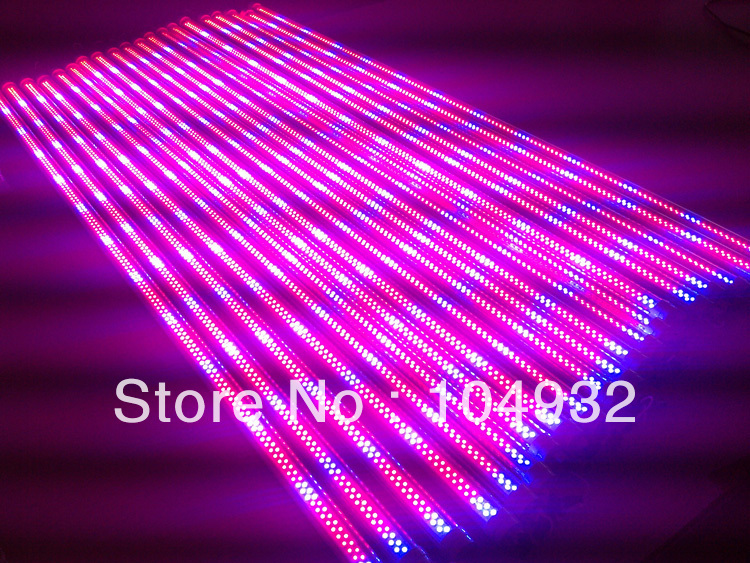 T8 LED Tube grow light 288pcs  120cm 4 feet 18w smd3528 warm white/cool white red and blue mix AC85-265V free shipping via Fedex<br><br>Aliexpress