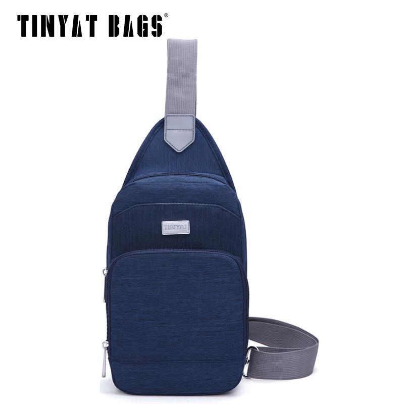 nylon waterproof chest font b bag b font for men causal crossbody font b bag b