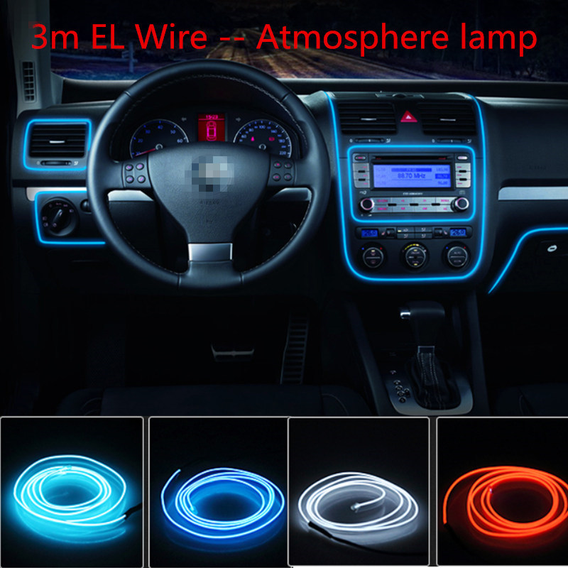Car styling el products 3m EL Wire Cold Neon Light For mazda 6 3 cx-5 cx7 atenza rx8 Car Stickers(China (Mainland))