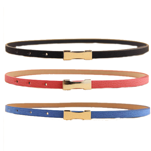 7 colors fashion women leather belt Factory wholesale Small simple lady belt Waist Accessories2014 PD27(China (Mainland))