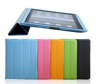 PU Leather Smart Cover Case For Ipad2 With Wake Up Mode Sleep Mode case for ipad2
